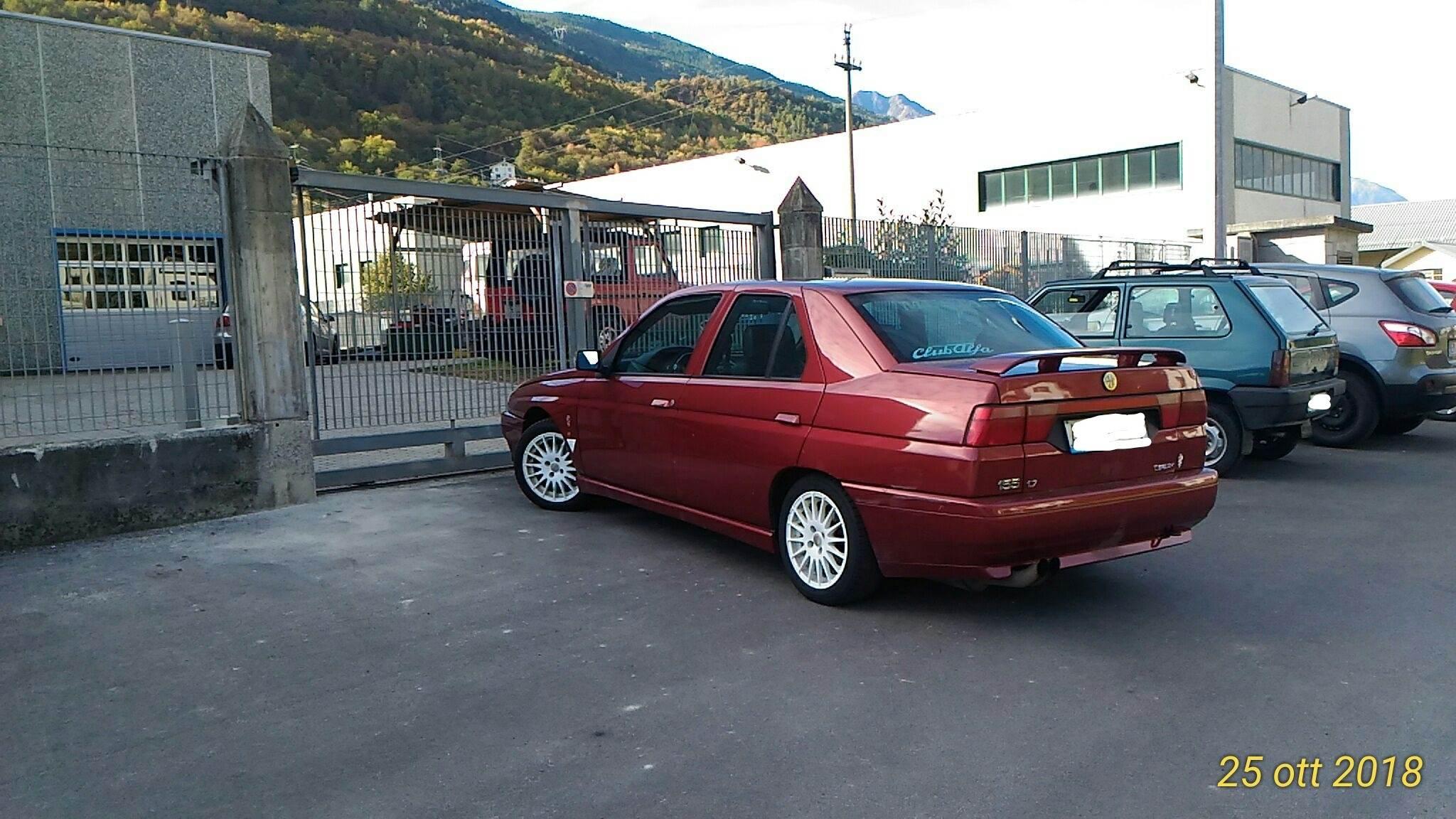 foto Alfa Romeo 155 T.S.  1995 rosso proteo  Livigno (Sondrio) - 2