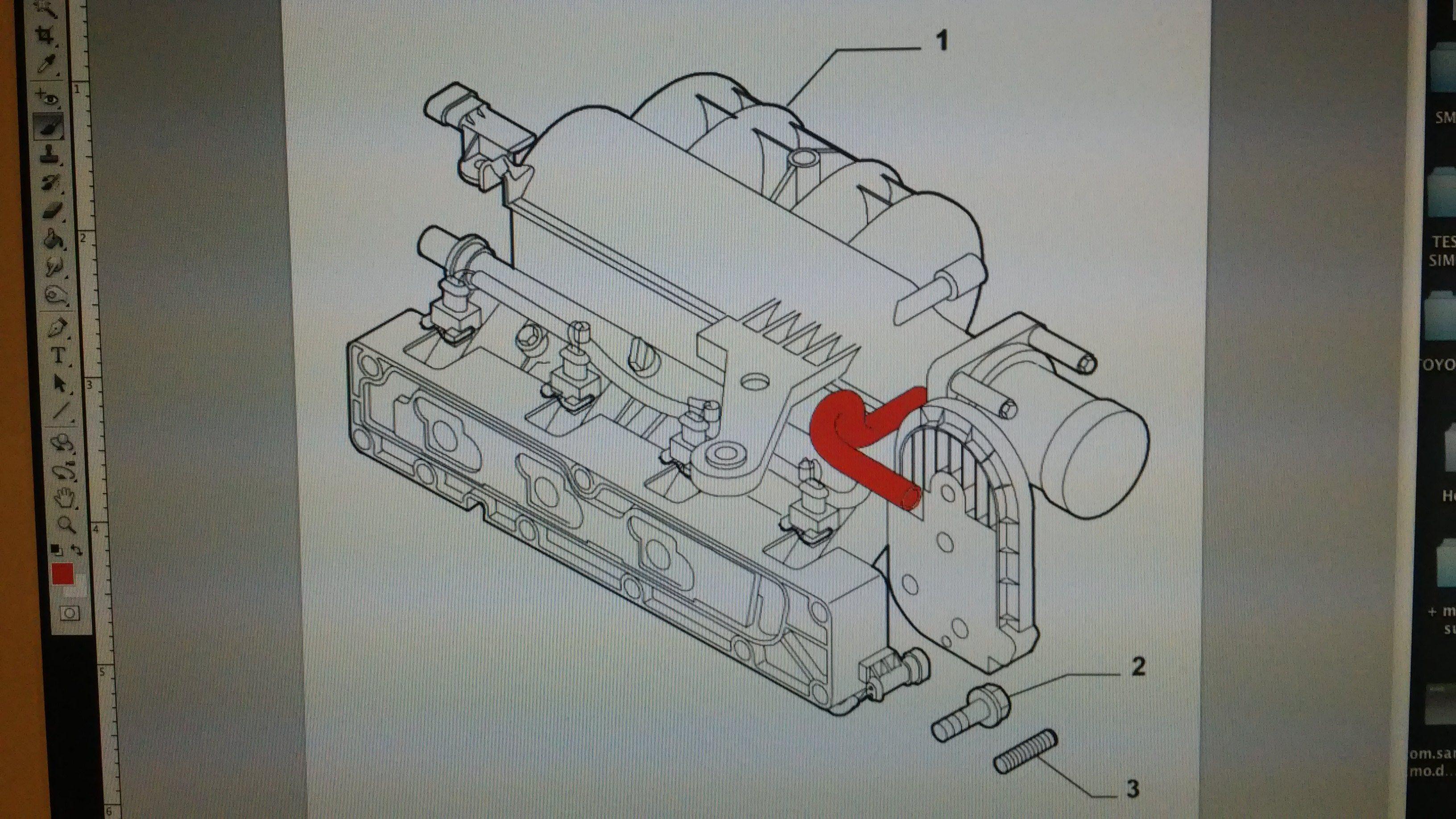 foto Tubo recupero vapori olio rotto e minimo impazzito - 1