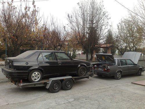foto Alfa 75 Turbo America 1988 da restaurare... - 2