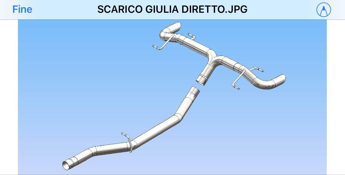 foto SCARICO SPORTIVO ARTIGIANALE  GIULIA 2000 BENZINA - 1