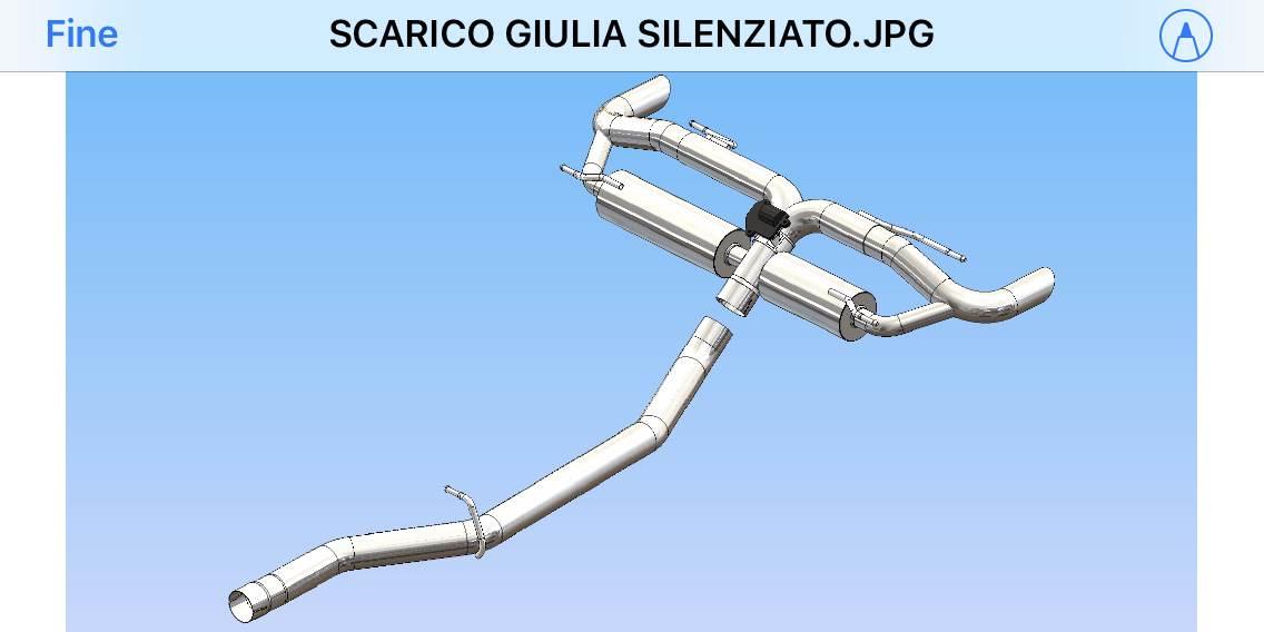 foto SCARICO SPORTIVO ARTIGIANALE  GIULIA 2000 BENZINA - 3