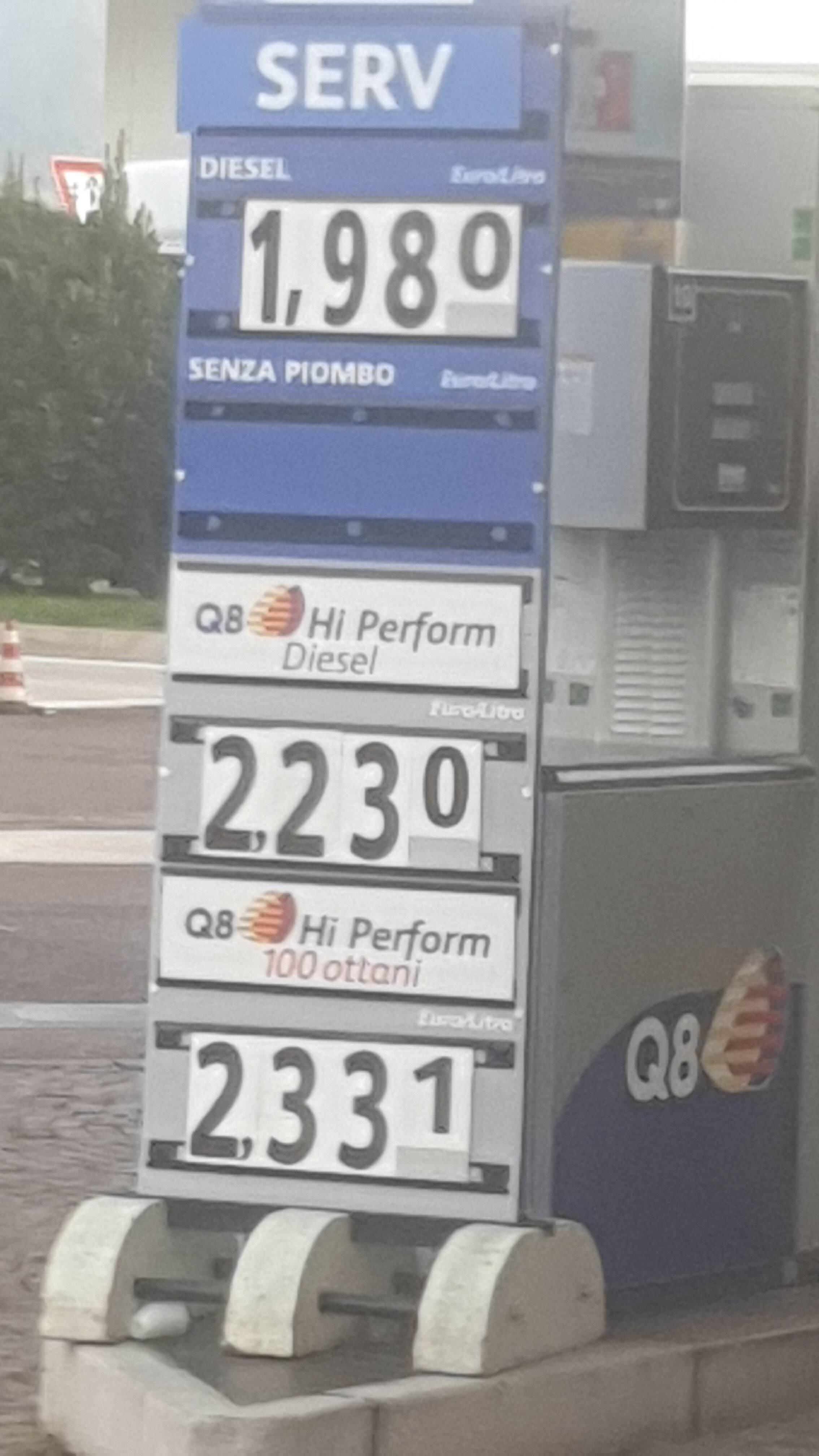 """foto Benzina Q8 Hi- Perform 100Ottani: Degna sostituta della """"V- Power"""" - 2"""