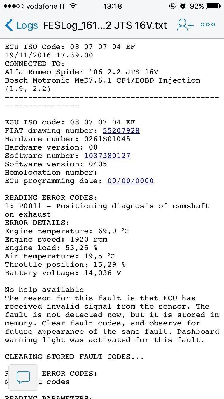 foto 159 2.2 jts alcuni problemi legati all'errore p0017 - 2
