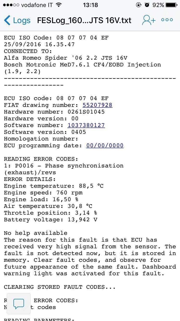 foto 159 2.2 jts alcuni problemi legati all'errore p0017 - 3