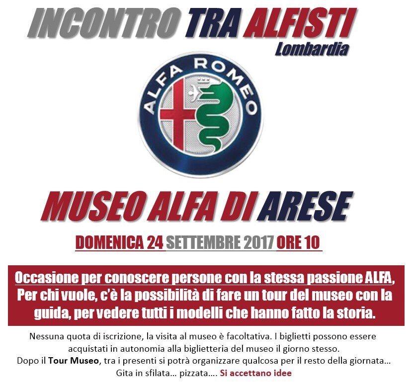 foto Raduno tra Alfisti il 24/9/17. -  Arese -  Museo Alfa - 1