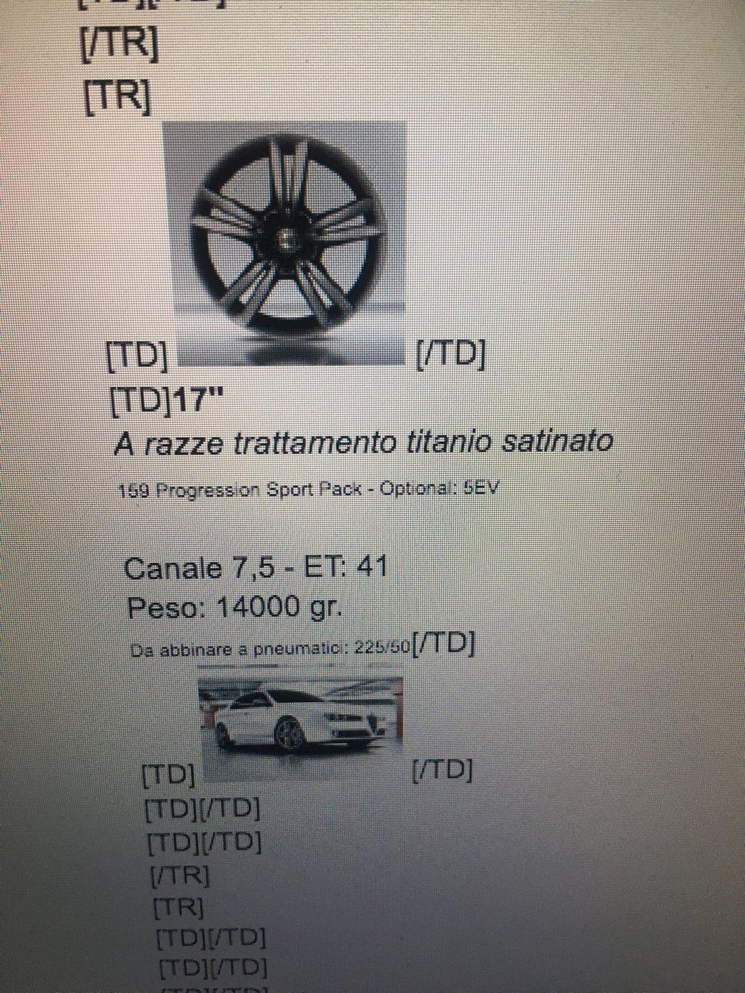 foto Compatibilità cerchi originali tra Alfa Romeo - 4
