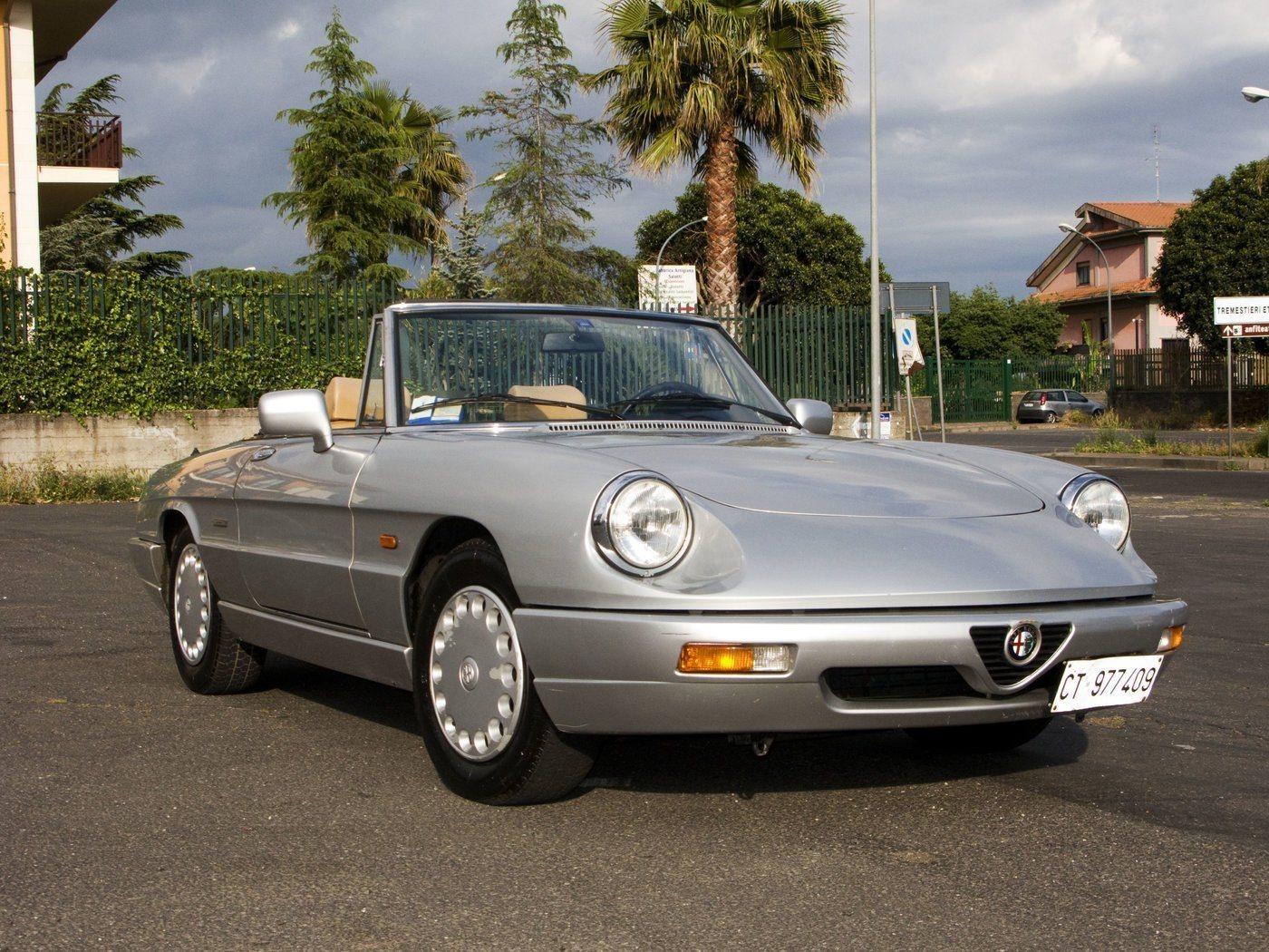 foto Alfa spider 1.6 carburatori - iv serie - grigio metall.- 1991 - 3