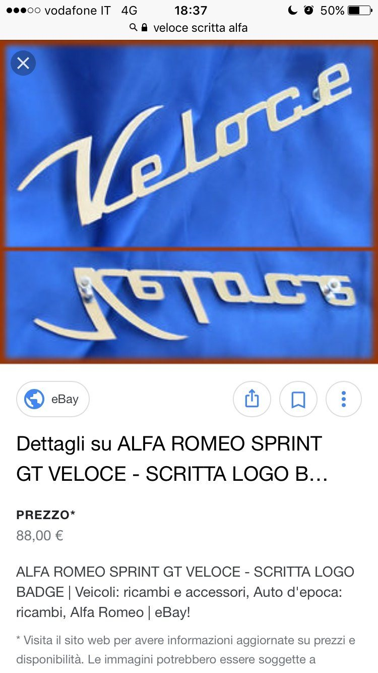 foto Sostituire la Scritta VELOCE laterale Alfa Giulietta - 1