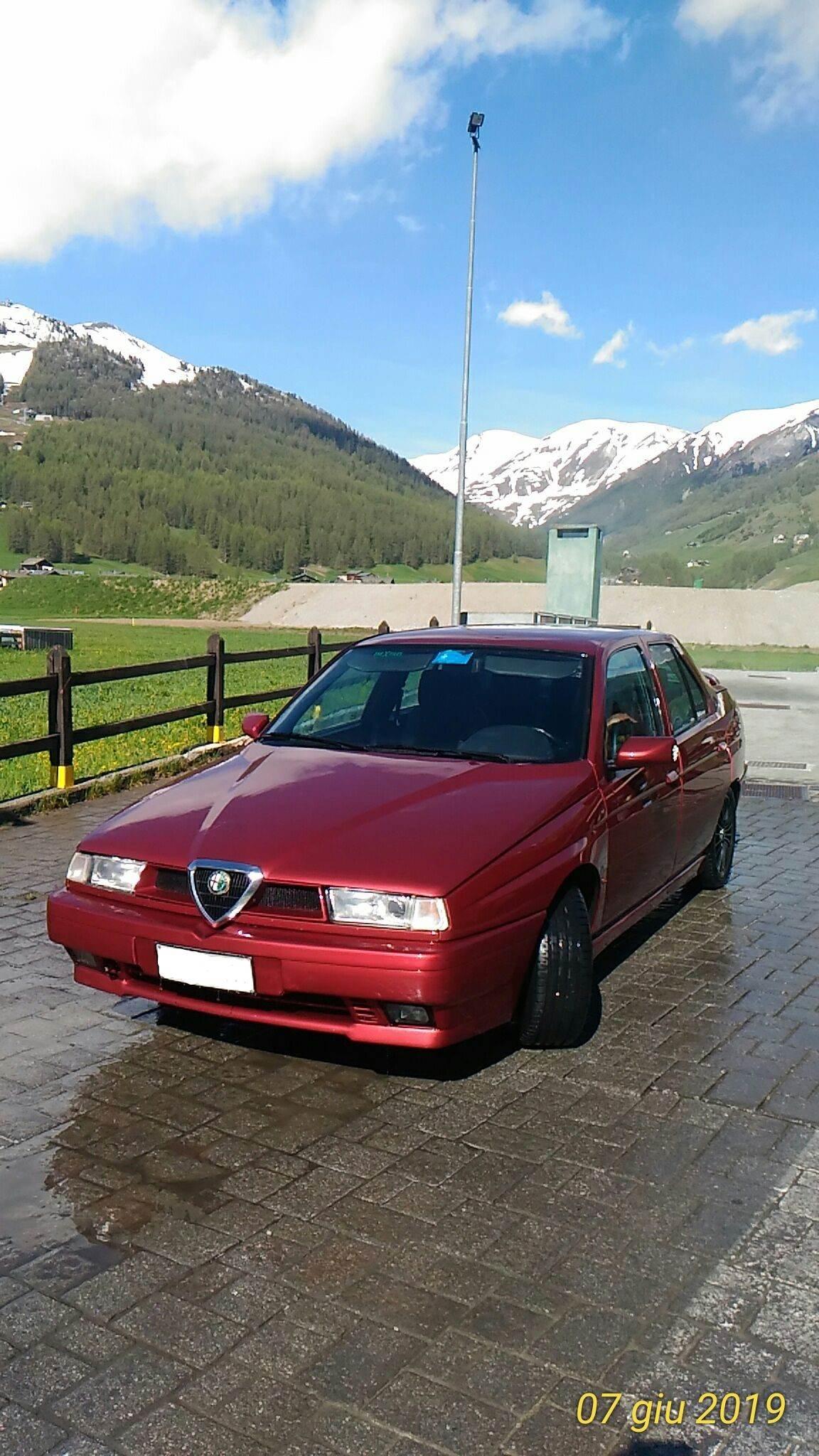 foto Alfa Romeo 155 T.S.  1995 rosso proteo  Livigno (Sondrio) - 4