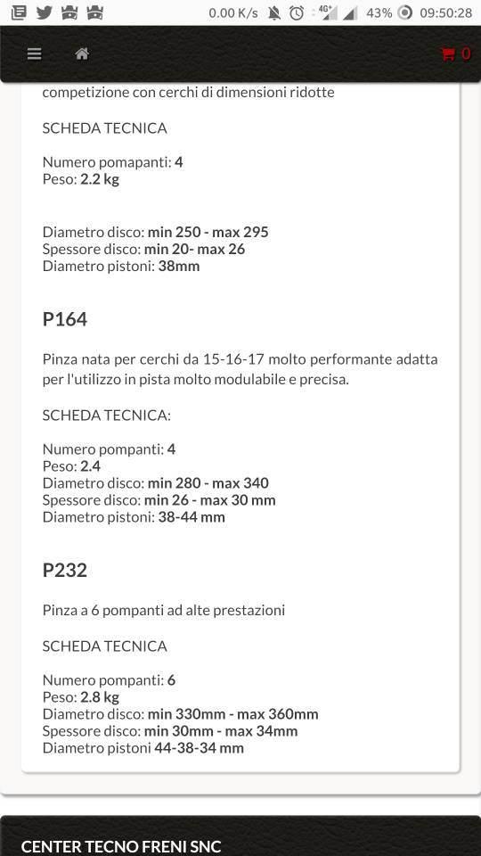 foto Dischi Freno >350 e Pinze 6 Pompanti - 1