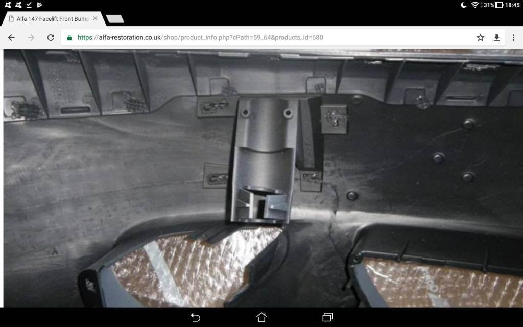 foto Info paraurti anteriore Alfa 147 restyling - 1