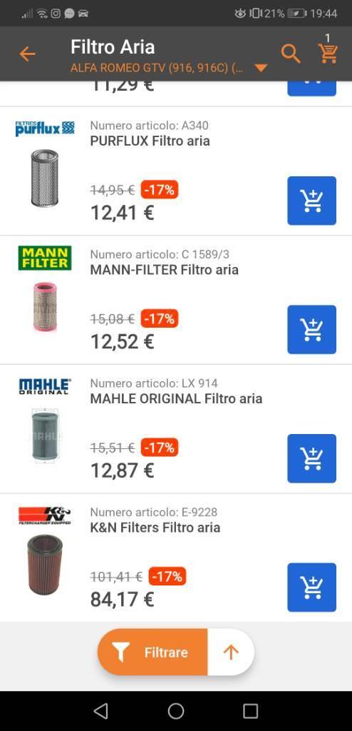 foto Filtro aria / filtro olio - 3