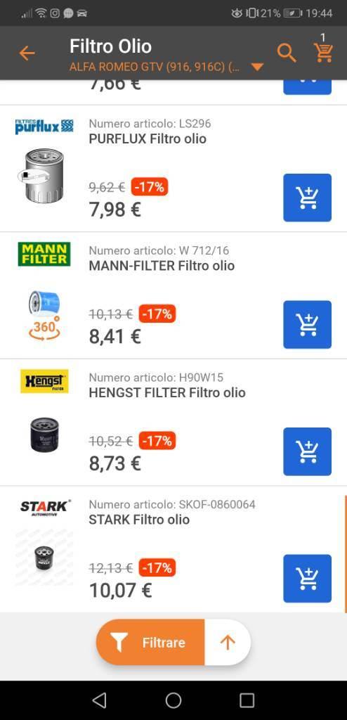 foto Filtro aria / filtro olio - 2