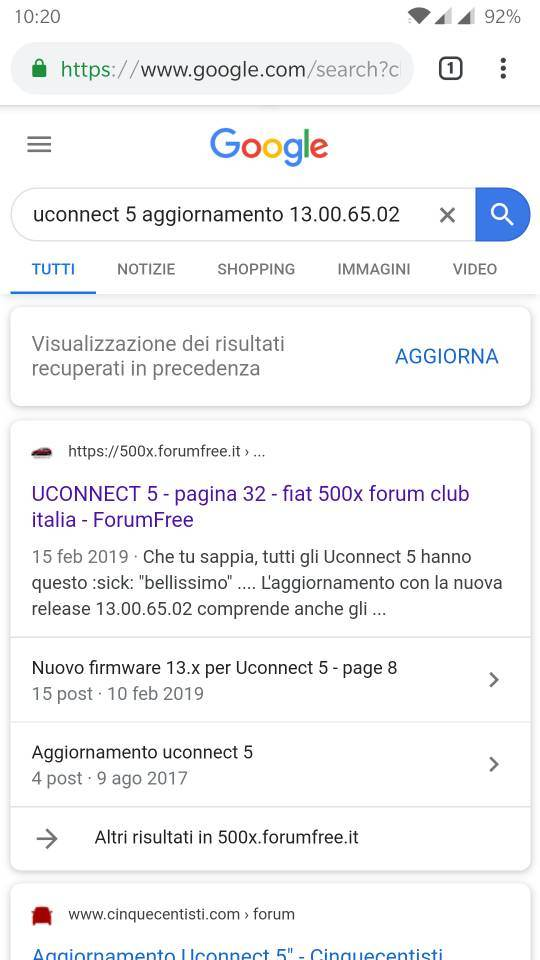 "foto uConnect 5"" Aggiornamento Software Firmware - 1"