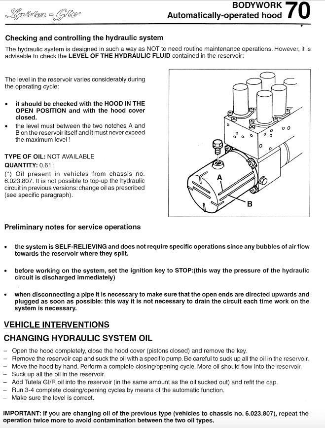 foto Alfa Spider(916) - azionamento manuale capote elettrica - 1
